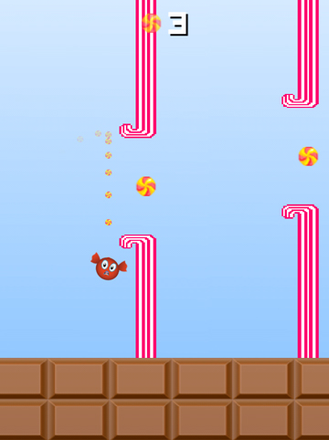 Download Flappy candy iPhone free game.