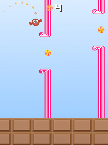 Descarga gratuita de Flappy candy para iPhone, iPad y iPod.