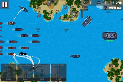 Screenshots of the Fleet combat 2: Shattered oceans game for iPhone, iPad or iPod.