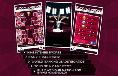 Écrans du jeu Flick Champions - Summer Sports pour iPhone, iPad ou iPod.