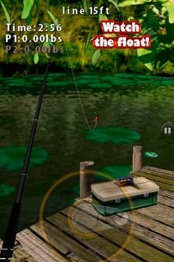 iPhone、iPad 或 iPod 版Flick Fishing游戏截图。
