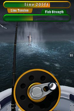 Screenshots do jogo Flick Fishing para iPhone, iPad ou iPod.