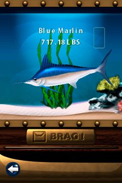 Écrans du jeu Flick Fishing pour iPhone, iPad ou iPod.