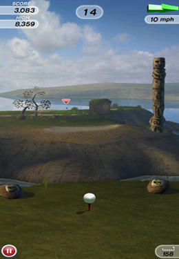 Screenshots of the Flick Golf! game for iPhone, iPad or iPod.