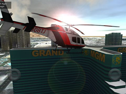 Скріншот гри Flight unlimited: Helicopter на Айфон.