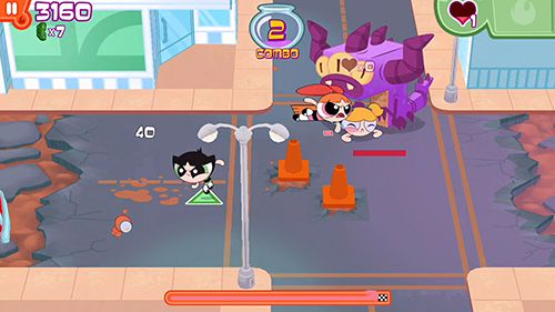 Capturas de pantalla del juego Flipped out: The powerpuff girls para iPhone, iPad o iPod.