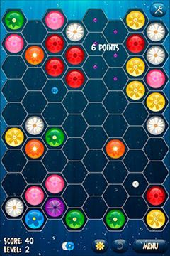 Screenshots of the Flower Board game for iPhone, iPad or iPod.