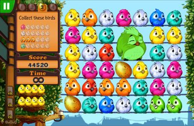 Screenshots of the Fluffy Birds game for iPhone, iPad or iPod.