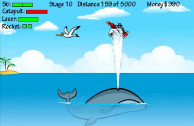 Screenshots of the Flugtag Pro game for iPhone, iPad or iPod.
