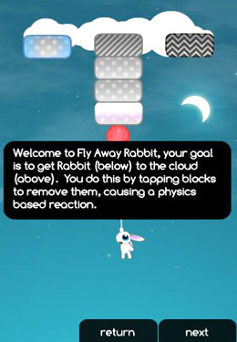 Download Fly Away Rabbit iPhone free game.