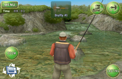 Écrans du jeu Fly Fishing 3D pour iPhone, iPad ou iPod.
