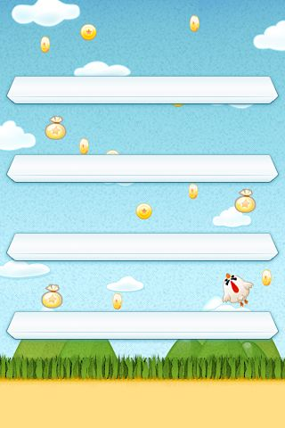 Screenshots of the Flying chicken game for iPhone, iPad or iPod.