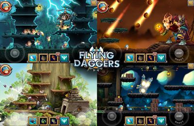 Capturas de pantalla del juego Flying Daggers para iPhone, iPad o iPod.