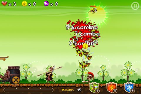 Capturas de pantalla del juego Flying defense para iPhone, iPad o iPod.