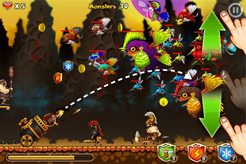 Écrans du jeu Flying defense pour iPhone, iPad ou iPod.