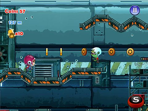 Capturas de pantalla del juego Flying jetpack adventure para iPhone, iPad o iPod.