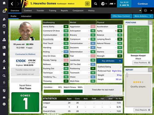 Free Football manager classic 2015 download for iPhone, iPad and iPod.