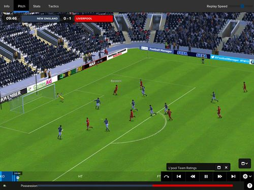 Capturas de pantalla del juego Football manager classic 2015 para iPhone, iPad o iPod.