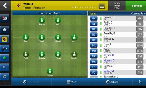 Free Football manager handheld 2015 download for iPhone, iPad and iPod.