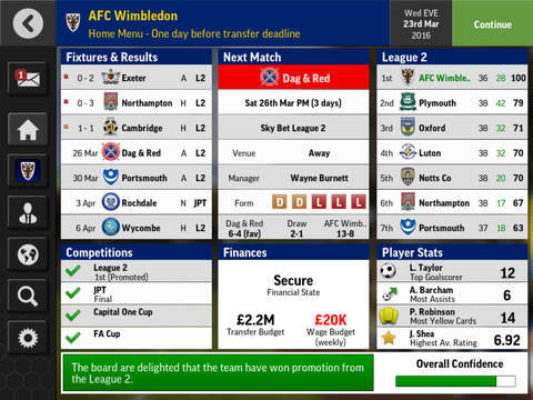 Kostenloser Download von Football manager mobile 2016 für iPhone, iPad und iPod.