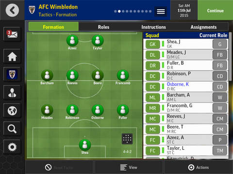 Screenshots vom Spiel Football manager mobile 2016 für iPhone, iPad oder iPod.