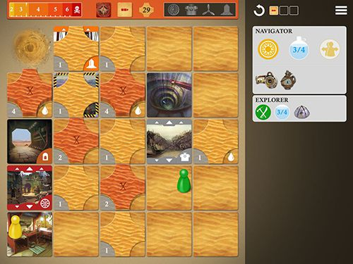 Screenshots of the Forbidden desert game for iPhone, iPad or iPod.