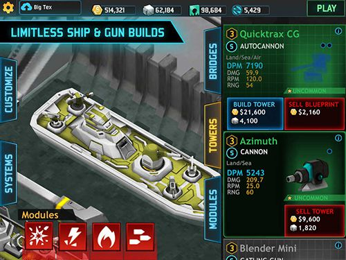 Screenshots vom Spiel Fortress: Destroyer für iPhone, iPad oder iPod.