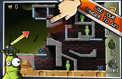 Screenshots of the Fragger HD game for iPhone, iPad or iPod.