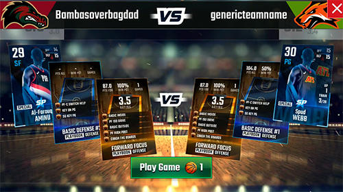 Screenshots vom Spiel Franchise basketball 2019 für iPhone, iPad oder iPod.