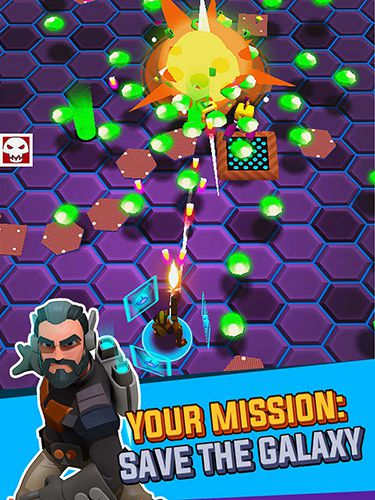 Écrans du jeu Frantic shooter pour iPhone, iPad ou iPod.