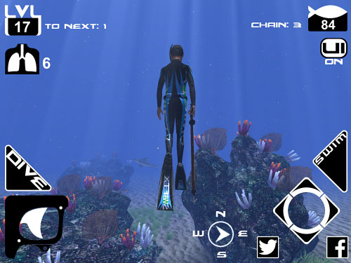 Descarga gratuita de Freediving: Hunter para iPhone, iPad y iPod.