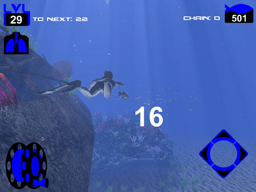 Capturas de pantalla del juego Freediving: Hunter para iPhone, iPad o iPod.