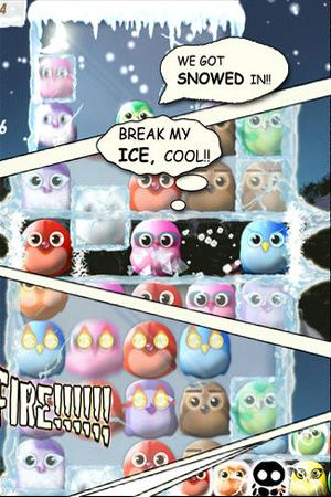 Screenshots of the Freezing Bird game for iPhone, iPad or iPod.
