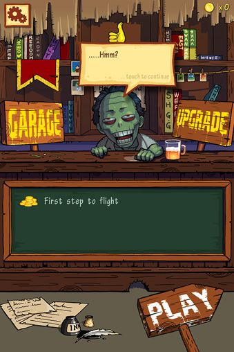 Download FreeZom: Flying adventure of zombie iPhone free game.