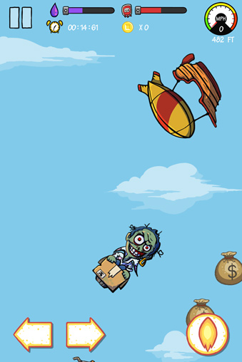 Screenshots of the FreeZom: Flying adventure of zombie game for iPhone, iPad or iPod.