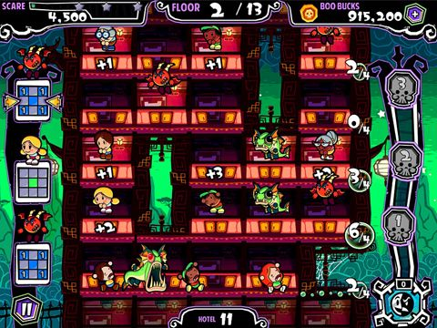 Screenshots of the Fright heights game for iPhone, iPad or iPod.