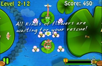 Capturas de pantalla del juego Frogs vs. Pests para iPhone, iPad o iPod.