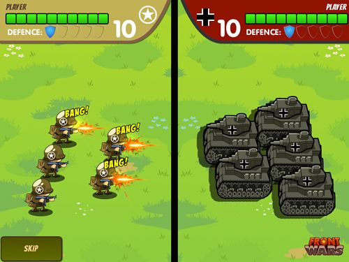Screenshots of the Front wars game for iPhone, iPad or iPod.