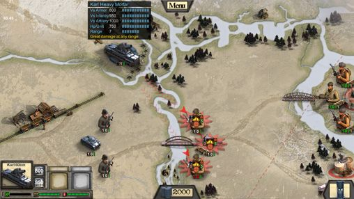Écrans du jeu Frontline: Road to Moscow pour iPhone, iPad ou iPod.