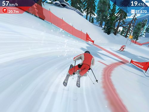 Screenshots vom Spiel FRS ski cross: Racing challenge für iPhone, iPad oder iPod.