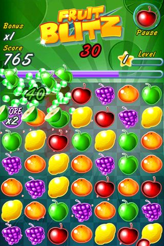 Download Fruit blitz iPhone free game.