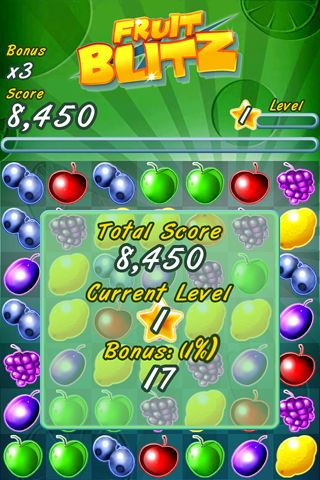 Capturas de pantalla del juego Fruit blitz para iPhone, iPad o iPod.