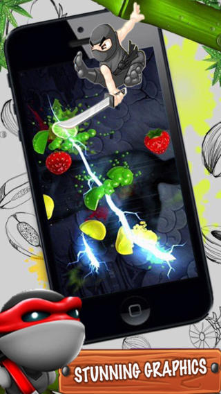 Screenshots of the Fruit clash ninja game for iPhone, iPad or iPod.