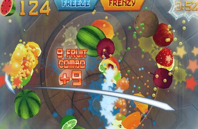 Screenshots do jogo Fruit Ninja para iPhone, iPad ou iPod.
