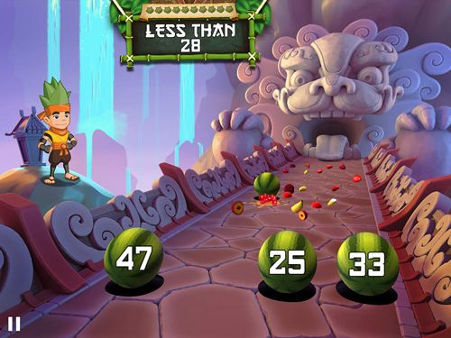 Capturas de pantalla del juego Fruit ninja academy: Math master para iPhone, iPad o iPod.