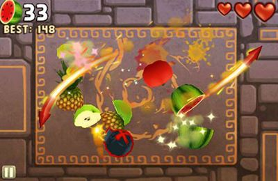 Capturas de pantalla del juego Fruit Ninja: Puss in Boots para iPhone, iPad o iPod.