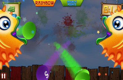 Écrans du jeu Fruit Ninja vs Skittles pour iPhone, iPad ou iPod.