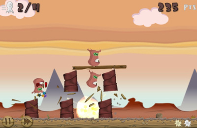 Capturas de pantalla del juego Fruit Rocks para iPhone, iPad o iPod.
