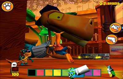 Screenshots of the Fur Fighters: Viggo on Glass game for iPhone, iPad or iPod.