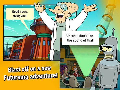 Download Futurama: Game of drones iPhone free game.
